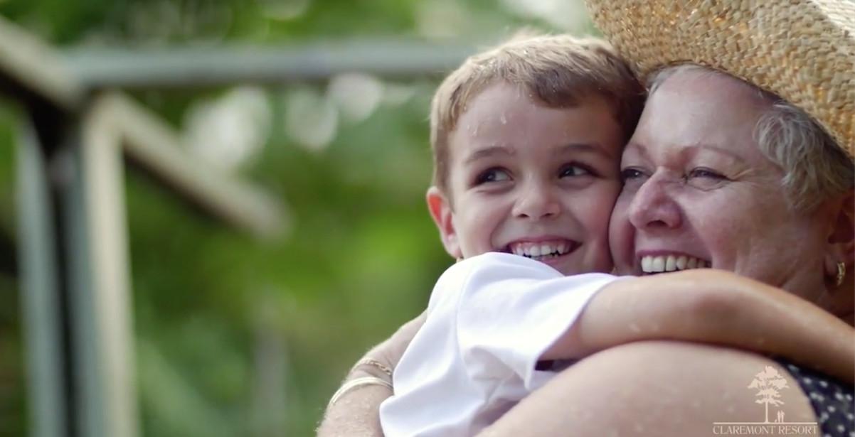 hug grandson